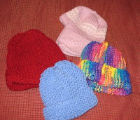 knitted mittens and scarf