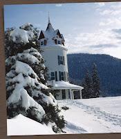 Snow scene Balsam Hotel