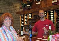 Romania server at the wine tasting
