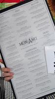Mon Ami menu