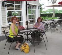 sisters at lunch at Mon Ami