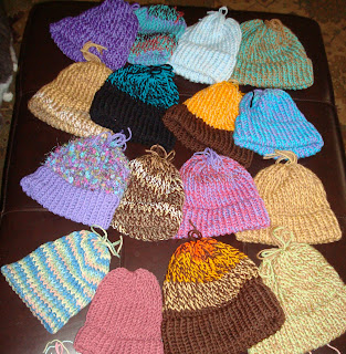 knitted on the loom hats