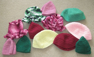 crocheted hats for homeless