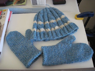 matching mittens and hat