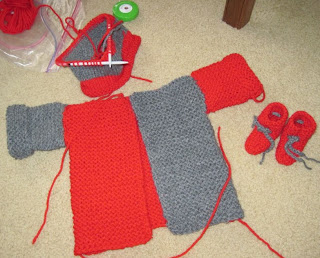 Buckeye Baby Knitted set