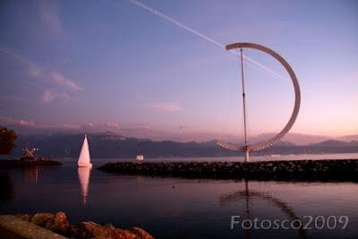 Lausanne, lac Léman, le retour au port
