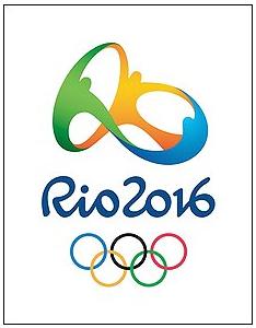 logomarca das Olimpiadas 2016 no Rio