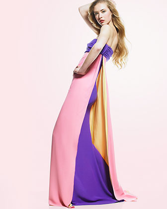 Pleated Formal Evening Gowns and Cocktail Dresses