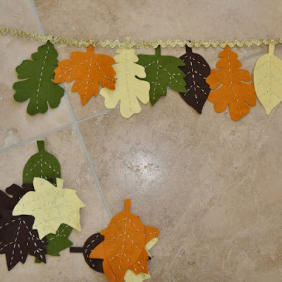 Гирлянду из листьев своими руками