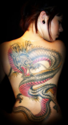 back dragon tattoo design
