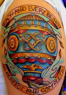 Hot Air Balloon Tattoo on Arm