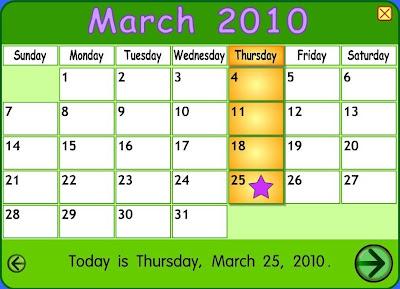 Starfall Calendar 2009
