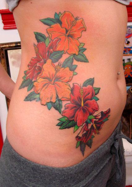 Flower tattoo tribal hibiscus august tattoo for Hibiscus tribal tattoo
