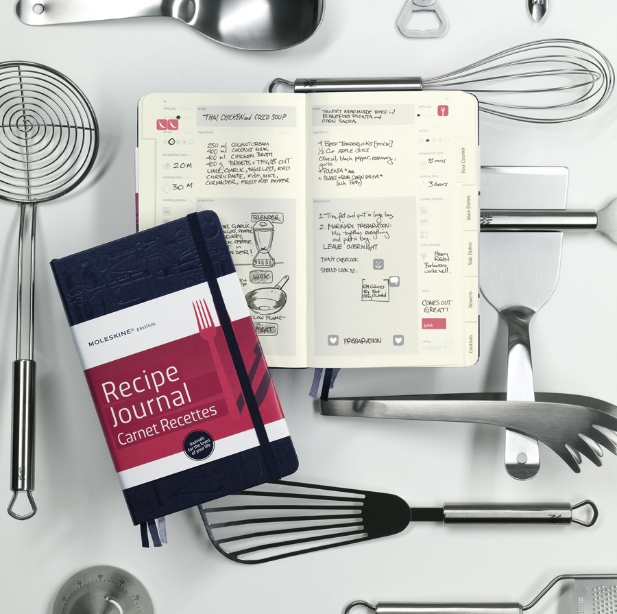 Shopping moleskine recipe journal the graphic foodie brighton loving this moleskine recipe journal 1599 it has a subtle gorgeous embossed cover with both predefined and personalisable sections and a set of stickers forumfinder Gallery