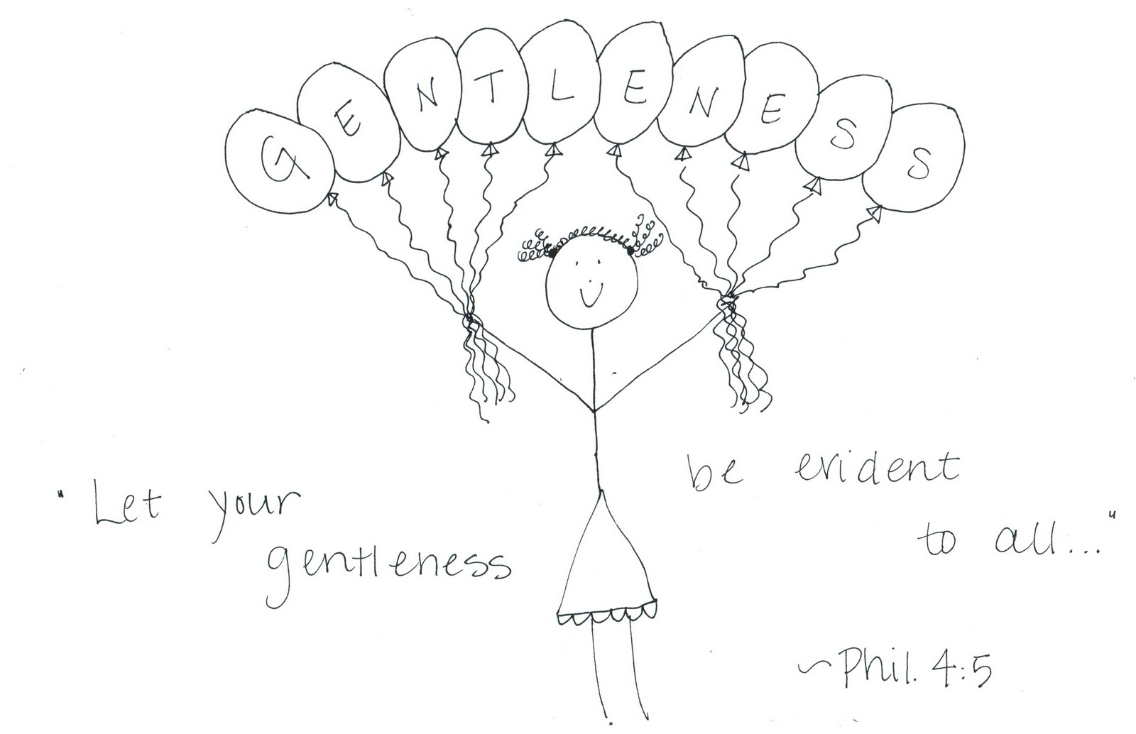 Coloring Page Gentleness