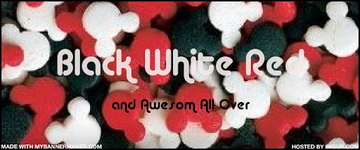 Black White Red and Awesome All Over