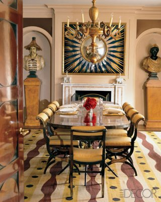 Bunny Williams Goes With A More Art Deco Feel Here And Uses Yellow As The Accent Color In This Dining Room
