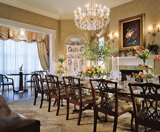 Elegant Monochromatic Dining Room By Michael J Siller Is Luxurious But Not Stuffy Because Of The Light And Airy Colors Used
