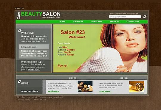 Free Flash Beauty Sexy Saloon Template