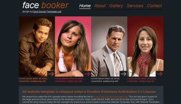 Booker Brown Fashion CSS Website Template
