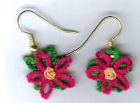 Pointsetta earings