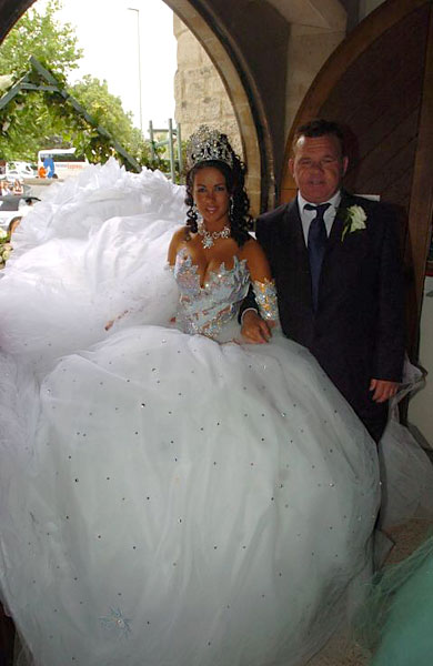  ... Wedding Gown, designed to cover up those hideous cellulite problems