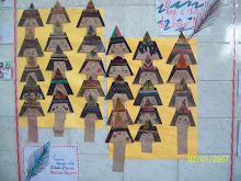 Mural dos alunos.Que meigo!!!