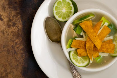 sopa de lima, Mexican lime soup