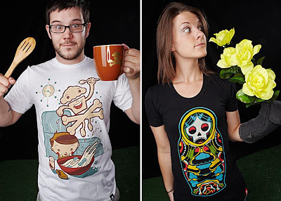 Johnny Cupcakes Artist Series 2 - Cereal Kid and Russian Doll T-Shirts by Dave Quiggle