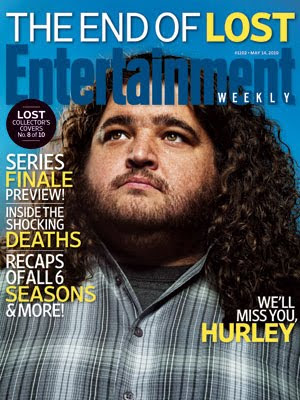 Entertainemnt Weekly Issue #1102 - May 14, 2010 - LOST Collector's Covers 8 of 10 - Jorge Garcia as Hugo 'Hurley' Reyes