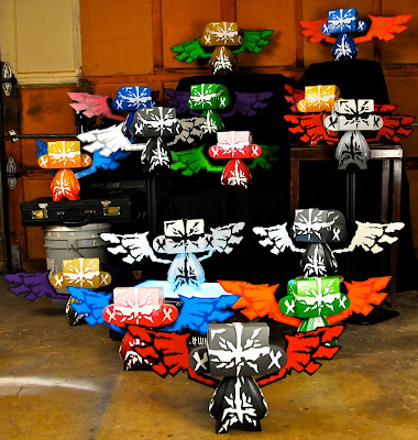All 15 Colorways of MAD's 10 Inch Hand Painted Custom Guardian Mad'l Set