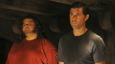 Lost - Dr. Linus - Jorge Garcia as Hurley Reyes &amp; Matthew Fox as Jack Shephard