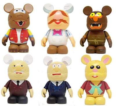 Disney Vinylmation The Muppets Series 1 - Rizzo the Rat, The Swedish Chef, Sweetums, Statler, Waldorf & Bean Bunny 3 Inch Vinyl Figures
