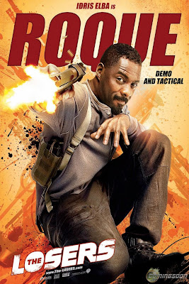 The Losers One Sheet Character Movie Posters - Idris Elba is Roque