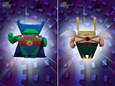 Blammoids! Series 4 by DC Direct - Martian Manhunter & Hawkman Mini Vinyl Figures