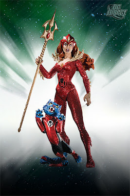DC Direct Blackest Night Series 7 - Red Lantern Mera with Red Lantern Dex-Star Action Figure