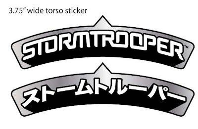 Star Wars x Super7 Stormtrooper Super Shogun Torso Stickers