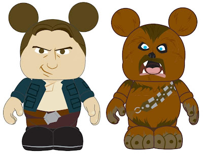 Disney Vinylmation Star Wars Series 1 Preview Artwork - Han Solo and Chewbacca
