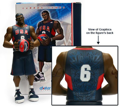 LeBron James USA Basketball Edition Upper Deck All-Star Vinyl Figure and Package