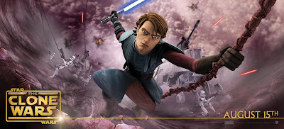Star Wars: The Clone Wars Anakin Skywalker Movie Banner