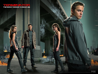 Terminator: The Sarah Connor Chronicles Television Poster - Season 2 Cast Photo