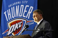 Oklahoma City Thunder Owner Clay Bennett Unveils The Franchise's New Name, Logo and Colors