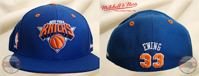 Mitchell & Ness NBA Hall of Fame Collection - Patrick Ewing New York Knicks Fitted Hat (front and back)