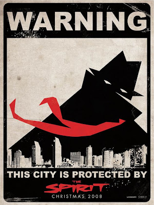 The Spirit - Warning: This City Is Protected By The Spirit Theatrical One Sheet Movie Poster