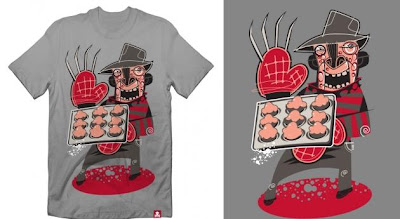 Johnny Cupcakes - There's Something In The Cupcake Mix Limited Edition Halloween T-Shirt Series - A Nightmare On Newbury Street T-Shirt