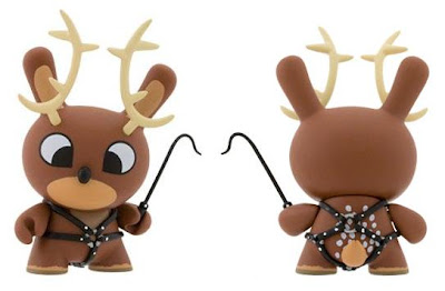 Kidrobot - 3 Inch Reindeer Dunny by Chuckboy Front & Back