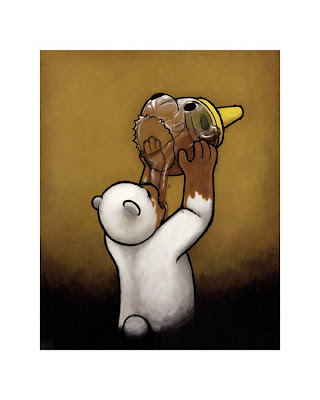 Luke Chueh - Honey Bear Giclee Print