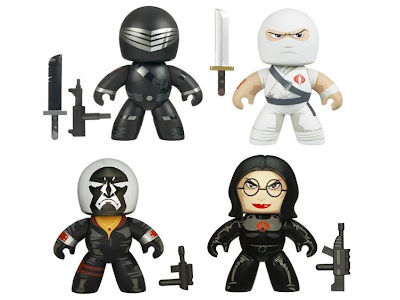 G.I. Joe Mighty Muggs Wave 2 - Snake Eyes, Storm Shadow, Destro and Baroness
