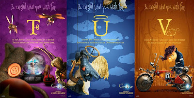 Coraline Alphabet Promo Movie Posters - T, U, V