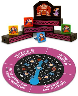Jenga: Donkey Kong Collector's Edition Custom Game Pieces and Spinner